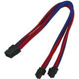 Nanoxia 8-Pin EPS Verlängerung 30 cm blau/rot