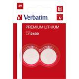 Verbatim Lithium Knopfzelle CR2430 2er Pack