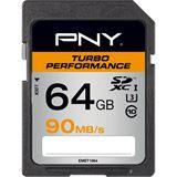 64 GB PNY Turbo Performance 90MB/s SDXC Class 10 U1 Retail