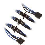 BitFenix Molex zu 4x SATA Adapter 20 cm - sleeved schw./blau/schwarz