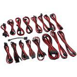 CableMod C-Series AXi, HXi, TX/CX/CS-M & RM Cable Kit - schwarz/rot