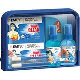 (€4,87*/100ml) EMTEC Travel Essentials Bildschirm / Display / Smartphones / Tablet Reinigungskit 100ml Tasche (ECCLTRAVELKIT)