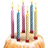 SUSY CARD Geburtstagskerzen, aus Wachs, weiß gestreift