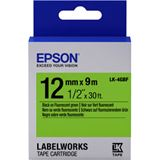 Epson Tape LK4GBF FLUOR BLK/