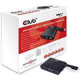 Club 3D SenseVision Dock Station - USB3.0 4K UHD Mini Docking Station grau/schwarz