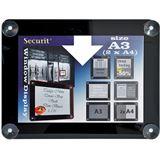 Securit Fenster-Plakatrahmen, DIN A3, schwarz