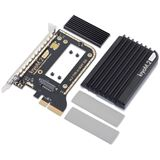 Aqua Computer kryoM.2 evo PCIe 3.0 x4 Adapter für M.2 NGFF PCIe SSD, M-Key mit Passivkühler