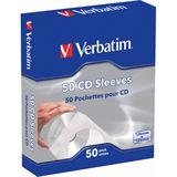 Verbatim 50er Pack CD- Papierhüllen für Aufbewahrung (49992)