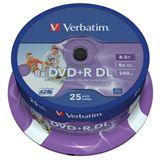 Verbatim DVD+R DL 8.5 GB bedruckbar 25er Spindel (43667)