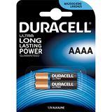 Duracell Ultra LR8 Alkaline AAAA Mini Batterie 1.5 V 2er Pack