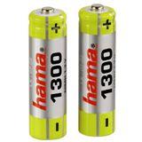 Hama AA / Mignon Nickel-Metall-Hydrid 1300 mAh 2er Pack