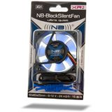Noiseblocker NB-BlackSilentFan X2 Rev. 3.0 80x80x25mm 1800 U/min 18 dB(A) schwarz/blau/transparent