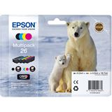 Epson Tinte C13T26164010 schwarz, cyan, magenta, gelb
