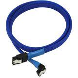 Nanoxia 0,6m SATA 6GB/s Anschlusskabel blau gewinkelt für Mainboards (NXS6G6B)