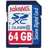 64 GB takeMS Flash SDXC Class 10 Retail