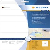 Herma 4685 Folie Transparent-Etiketten 7x3.7 cm (25 Blatt (600 Etiketten))