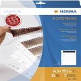 Herma Negativhüllen transparent für 7 x 5 Streifen 25 St.