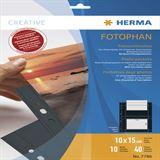 Herma Fotosichthüllen 100 x 150 mm quer schwarz 10 Hüllen