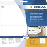 Herma 10020 ablösbar Universal-Etiketten 19.96x14.35 cm (25 Blatt (50 Etiketten))
