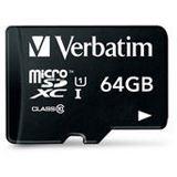 64 GB Verbatim microSDXC Class 10 Retail inkl. Adapter auf SD