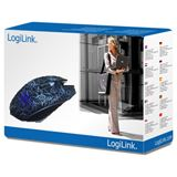 LogiLink G1 Laser Gaming Mouse USB schwarz mit Muster (kabelgebunden)