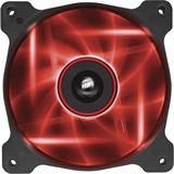 Corsair Air Series AF120 LED Red Quiet Edition 120x120x25mm 1500 U/min 25 dB(A) schwarz/transparent
