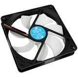Cooltek Silent Fan 140 140x140x25mm 900 U/min 14 dB(A) schwarz/weiß