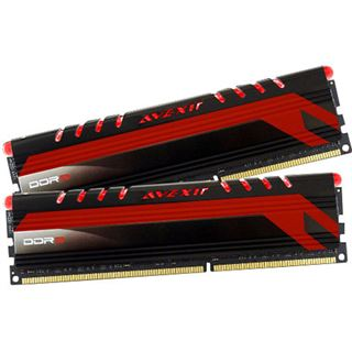 16GB Avexir Core Series rote LED DDR4-2400 DIMM CL16 Dual Kit