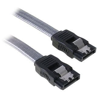 BitFenix SATA 3 Kabel 30cm - sleeved silber/schwarz