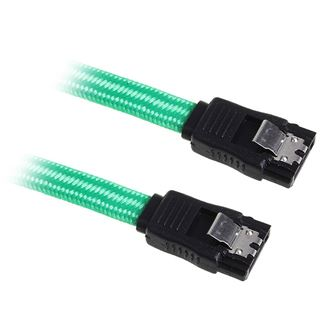 BitFenix SATA 3 Kabel 30cm - sleeved grün/schwarz