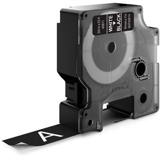Dymo D1 19mm x 7m weiß auf schwarz