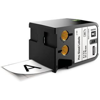 Dymo XTL Polyester 51x76mm schwarz auf weiß 100 Stück