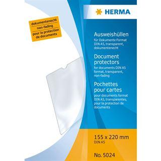 Herma Ausweishülle, PP, 1-fach, 0,14 mm, Format: 155 x 220mm