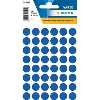 Herma Markierungspunkte, Durchmesser: 12 mm, dunkelblau