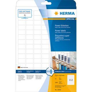 HERMA Power Etiketten SPECIAL, 25,4 x 16,9 mm, weiß