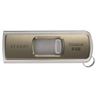 8GB Sandisk Cruzer Titanium Liquidmetall Gehäuse USB 2.0