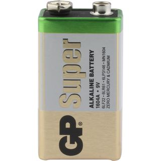 GP Batteries Super 6LR61 Alkaline E Block Batterie 9.0 V 1er Pack
