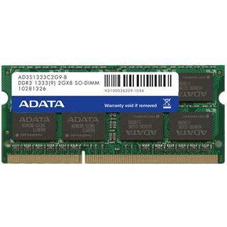 2GB ADATA Value DDR3-1333 SO-DIMM CL9 Single