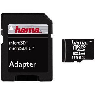 16 GB Hama High Speed microSDHC Class 6 Retail inkl. Adapter