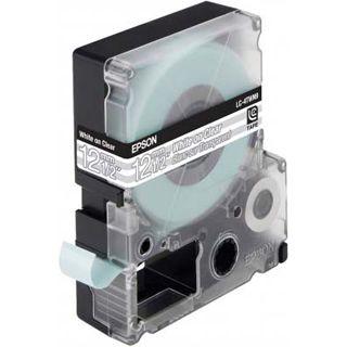Epson LC-4TWN9 weiß auf transparent Etikettenkassette (1 Rolle (1.2 cm x 9 m))