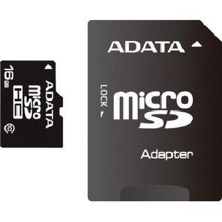 16 GB ADATA microSDHC Class 10 Retail inkl. Adapter