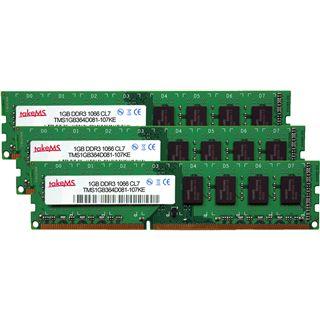 3GB takeMS 3MS3GB364C08x DDR3-1066 DIMM CL7 Tri Kit