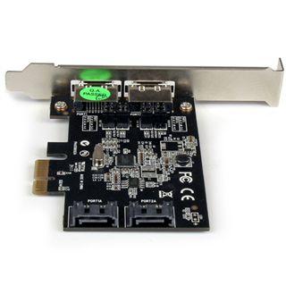 Startech 2 Port PCI Express SATA 3 Schnittstellenkarte 2 Port PCIe x1 Low Profile retail