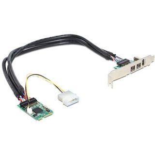 Delock 95236 3 Port PCIe Mini Card retail