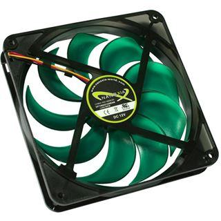 Nanoxia Deep Silence NDS 140 PWM 140x140x25mm 700-1400 U/min 16 dB(A) schwarz/grün