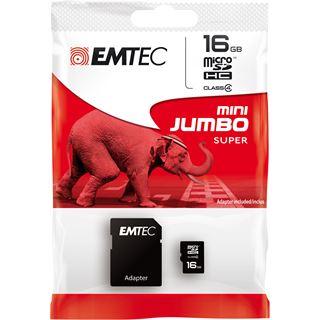 16 GB EMTEC microSDHC Class 4 Retail inkl. Adapter