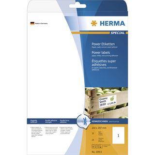 Herma Universal-Etiketten 21.0x29.7 cm (25 Blatt (25 Etiketten))
