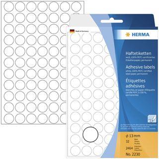 Herma 2230 rund Vielzwecketiketten 1.3x1.3 cm (32 Blatt (2464 Etiketten))
