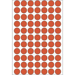 Herma 2232 rot rund Vielzwecketiketten 1.3x1.3 cm (32 Blatt (2464 Etiketten))