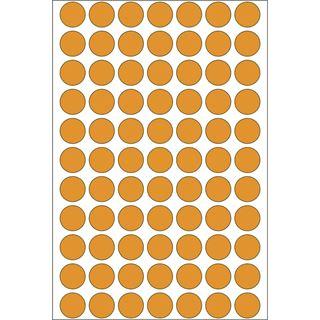 Herma 2234 leuchtorange Vielzwecketiketten 1.3x1.3 cm (24 Blatt (1848 Einheiten))